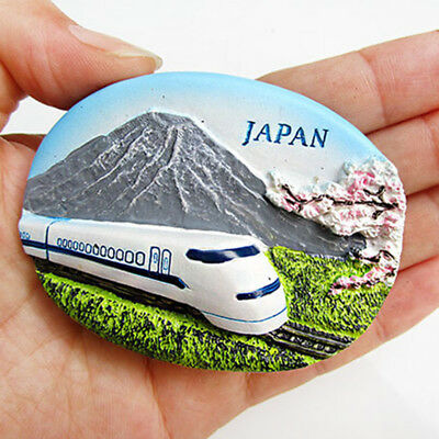 Resin Tourist Souvenir Fridge Magnet Refrigerator Sticker Japan High-speed Rail