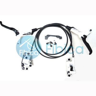 New Improved 2012 Avid Elixir 1 Hydraulic Disc Brake Pair set+Brake Pads White