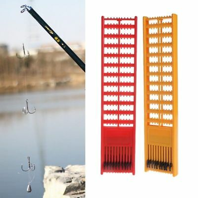 Fishing Plastic Rig Board Double Side Spring Hooks Storage Catch Holder Tackle