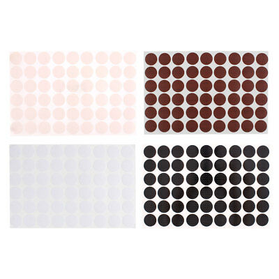 Furniture Desk Table Self-adhesive 21mm Screw Hole Covers Caps Stickers 54 in 1