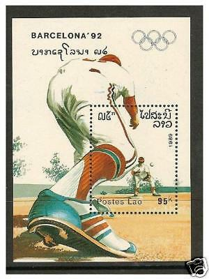 Laos - 1989 Olympic Games sheet - MNH - SG MS1147