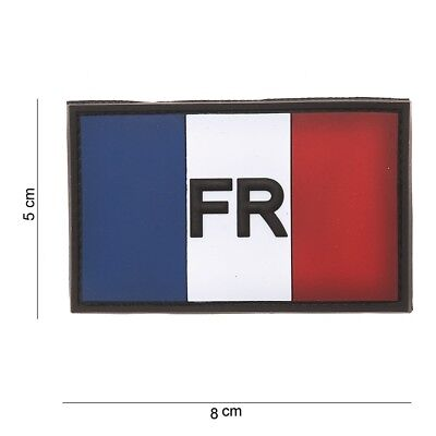 Patch Pvc 3D Tactical  Drapeau France Avec Velcro