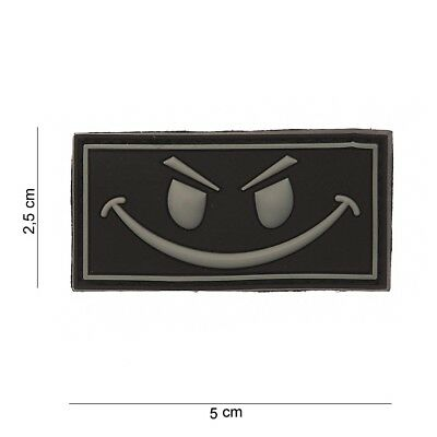 Patch Pvc 3D Tactical Evil Smiley Avec Velcro