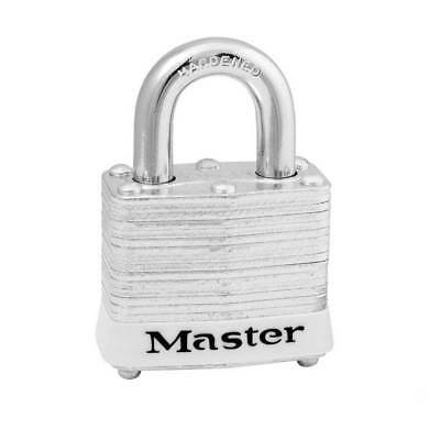 Master Lock 3 Padlock Laminated White KD (ML-3WHT)