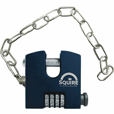 Squire Stronghold Combo Padlock and Chain (SHCB65/Chain)