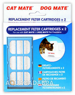 Pet Mate Cat Fountain Filter Cartridges 2 Pack Dog Water Replacement 339