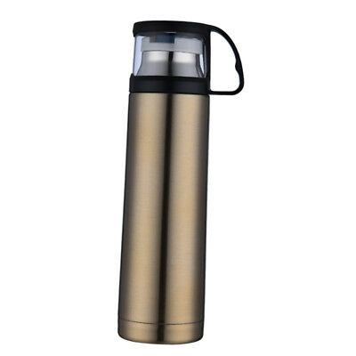 Stainless Steel Insulated Thermal Cup Flask Or Can Travel Water Bottle Gold