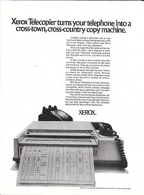 1971 Xerox Telecopier Turns Your Telephone Into A Copy Machine Ad