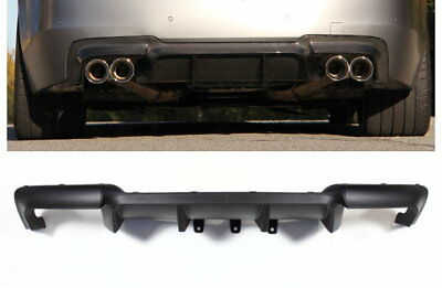Rear Diffuser for for BMW F10 F11 M5 Performance 4 Tube Conversion Black Matte