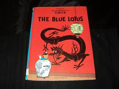 The Adventures Of Tintin - The Blue Lotus - re printed 1989