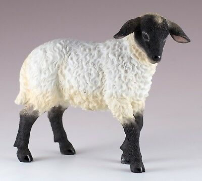 """Black Faced Lamb Sheep Figurine 4.5"""" High Polystone Highly Detailed New In Box!"""