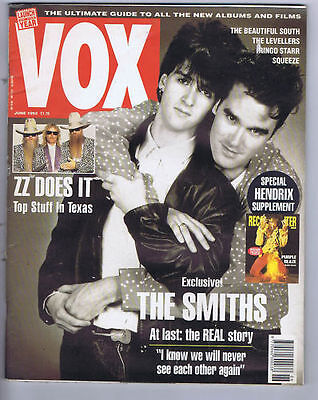 THE SMITHS   	VOX Magazine	 	 	June	1992