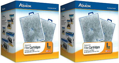 Aqueon Replacement Filter Cartridges, Large 24ct (2 x 12ct)