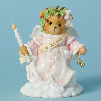 Cherished Teddies Wynter All is Bright Bear Holding Candle Christmas Figurine