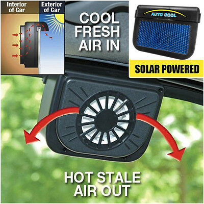 Sun Solar Powered Car Vehicle Auto Window Cooling Fan Air Vent Cool Ventilation