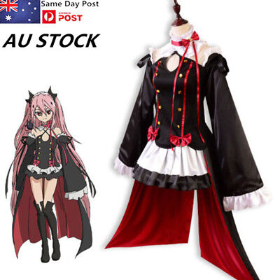 Seraph Of the End Krul Tepes Cosplay Costume Anime Vampire Dress Costume Lot