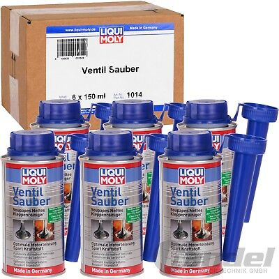 [2,78€/100ml] 6x LIQUI MOLY VENTIL SAUBER 150ml LM 1014 BENZIN ADDITIVE REINIGER