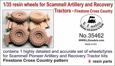 LZ MODELS 35462 Firestone Cross Country Wheels for Scammell Versions in 1:35