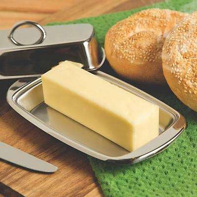 Durable Stainless Steel Butter Dish Butter Cheese Dish Box with Lid
