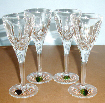 Waterford Lismore Cordial Crystal Glasses 4 Piece Set 2oz #135057 New In Box