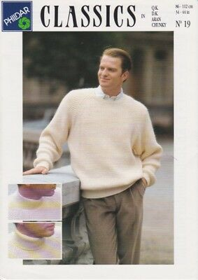 mens aran knitting pattern