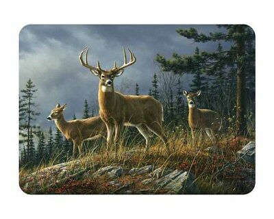 Tuftop Glass Chopping Board Rocky Mountain Deer Kitchen Worktop Saver Protector