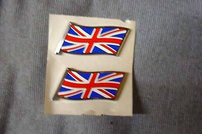 New Classic Mini Mg Triumph Factory Union Jack Flag Decal Badges