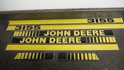 John Deere 3155 Tractor Decals. Hood & Numbers Only. See Details & Pictures