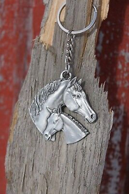 Hastings Pewter Co Lead Free Pewter Horse & Colt Keychain key chain metal - NEW