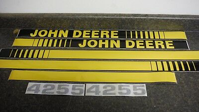 John Deere 4255 Tractor Decals. Hood & Numbers Only. See Details & Pictures