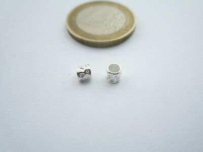 2 componenti in argento 925 di 3,5 x 4 mm foro 3,5 mm made in italy
