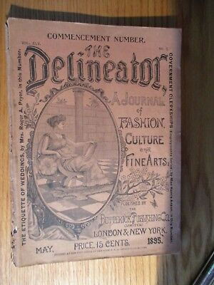 The Delineator Fashion, Culture & Fine Art Magazine May 1895 Vintage Advertising