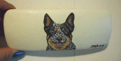 Australian Cattle Dog Hand Painted Eyeglass case