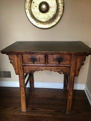 Antique Chinese Ming Painting Scholar Table/Desk Console Table Circa 1800-1849