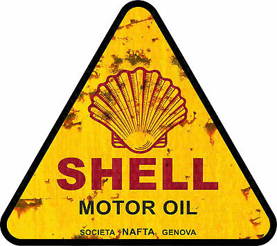 15cm SHELL OIL School Aufkleber Hotrod Oldschool Sticker Ralley Auto Youngtimer