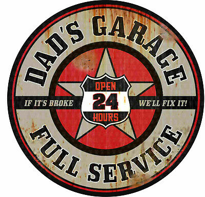 2x DADS GARAGE Aufkleber Hotrod Oldschool Sticker Chopper Tuning Bike Rockabilly