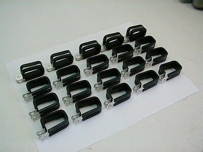 (20) Aluminum Rectangular Aircraft Loop Clamps 1 1/4 x 5/8 ~ Made in USA