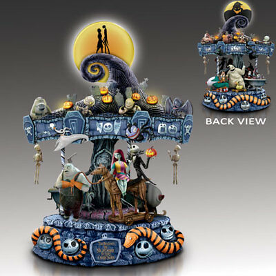 Nightmare Before Christmas Illuminated Carousel Disney Bradford Exchange Musical