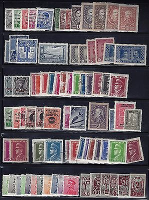 YUGOSALVIA 1920's 1970's COLLECTION OF 300 +MINT FEW USED +9 SOUVENIR SHEET MOST