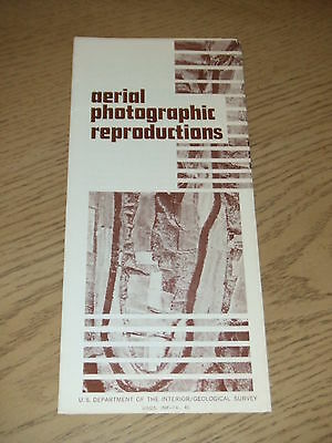 VINTAGE 1974 OFFICIAL USDOI Aerial Photographic Reproductions Brochure Geologica
