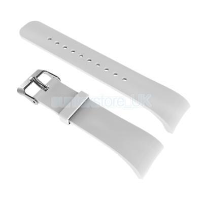 Replacement Soft Wrist Band Watch Strap For Samsung Gear Fit2 Bracelet White
