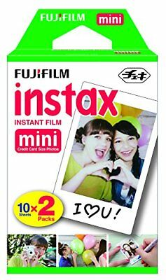 NEW Fujifilm Instax Mini Instant Film Twin Pack - White (16437396)
