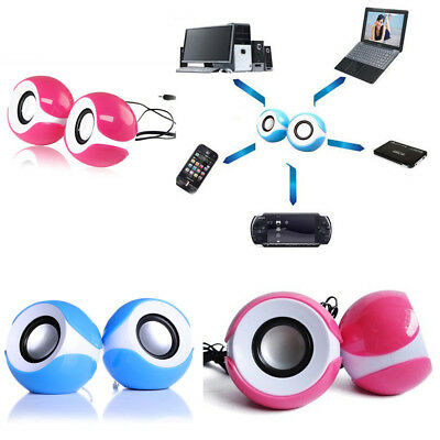 Mini Speakers For Computer Laptop Stereo Player USB Powered System Desktop Small