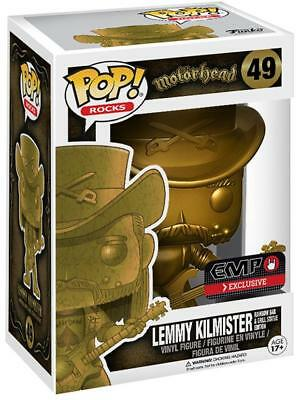 Funko Pop Rocks Motorhead 49 Lemmy Kilmister Gold EMP Exclusive