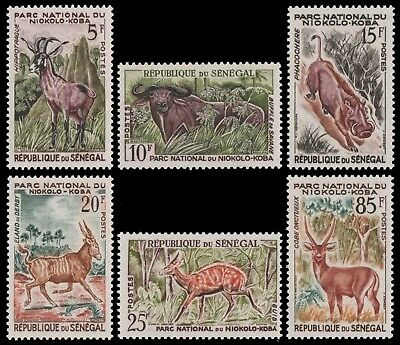 Senegal 1960 - Mi-Nr. 233-238 ** - MNH - Wildtiere / Wild animals