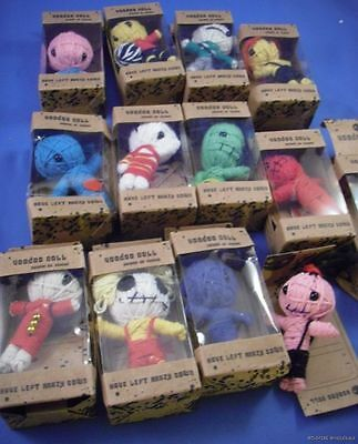 WHOLESALE LOT OF 12  VOODOO DOLLS Black Magic YARN NEW spells vudo vudoo mini