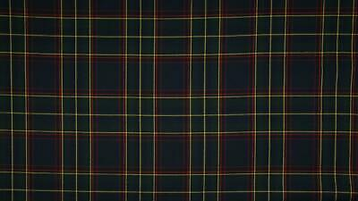 SCOTTISH CHECK Tartan Fabric Material - NAVY YELLOW RED