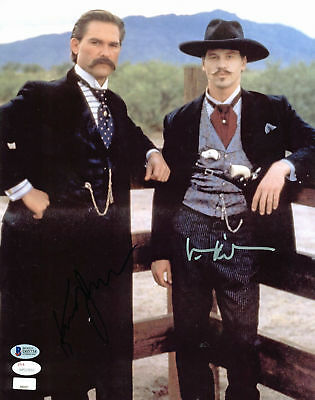 Kurt Russell & Val Kilmer Tombstone Authentic Signed 11x14 Photo BAS #D05738