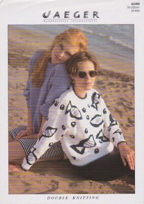 vintage knitting pattern ladies fish jumper