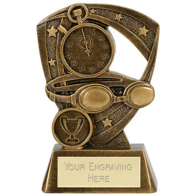 Swimming Trophy 2 Sizes Available Engraved Free Puma Range Goggles  Trophies